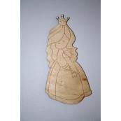 Element decorativ din lemn: Printesa