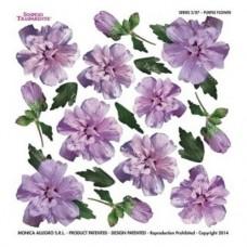 Folie Sospeso Trasparente- Purple Flower